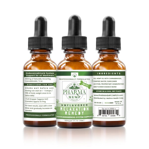 Hemp CBD Oral Tincture for Pets 2oz/550mg - Unflavored