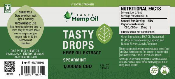 Tasty-Drops-1000mg-Spearmint-