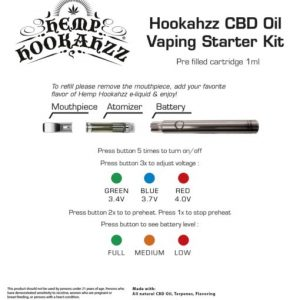 CBD Rechargeable Vape Kit 40mg - Fresh Mintzz